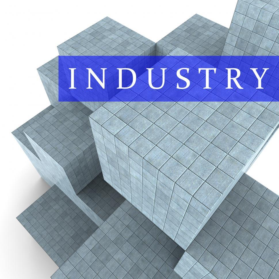 Download Free Stock HD Photo of Industry Blocks Indicates Factory Industrial And Industries 3d R Online