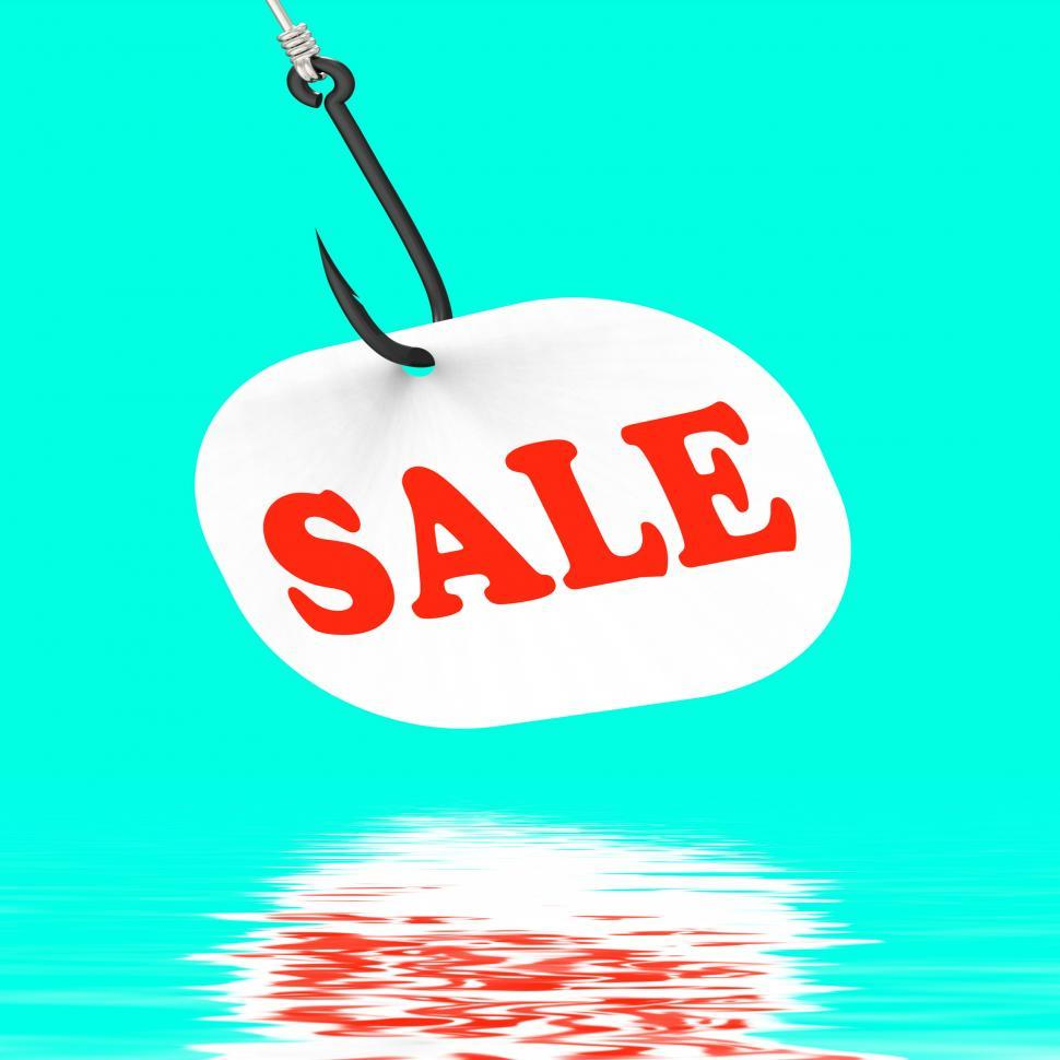 Download Free Stock HD Photo of Sale On Hook Displays Special Discounts And Promotions Online