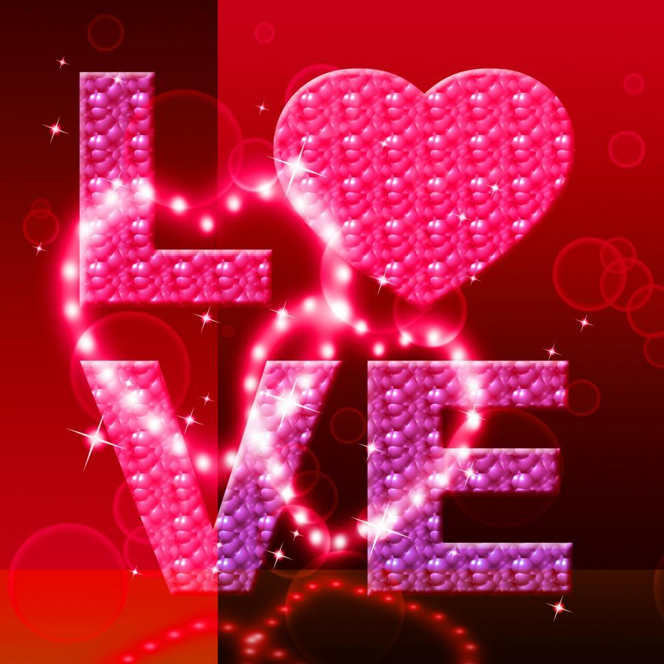 Download Free Stock HD Photo of Love Word Indicates Fondness Tenderness And Loving Online