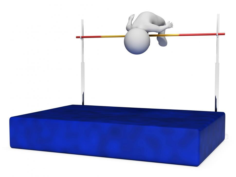 Download Free Stock HD Photo of High Jump Indicates Pole Vault And Athletic 3d Rendering Online