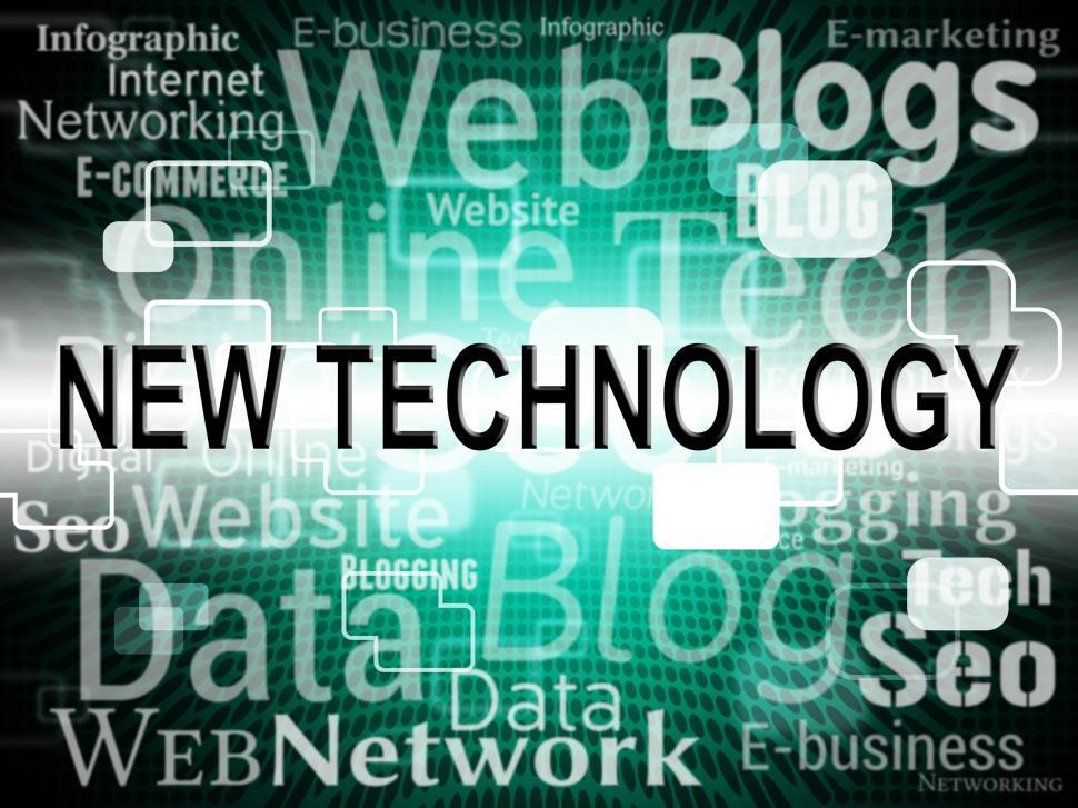 Download Free Stock HD Photo of New Technology Indicates Announcement Breaking And Headline Online