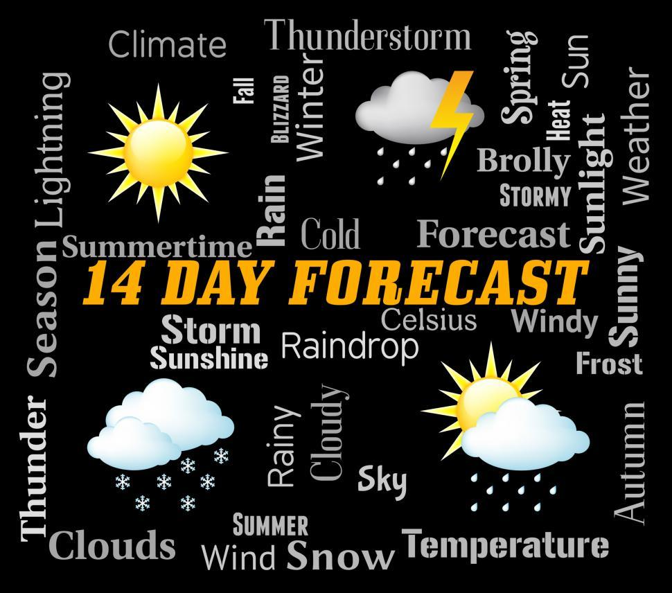 Download Free Stock HD Photo of Fourteen Day Forecast Represents Two Weeks Forecasting Online