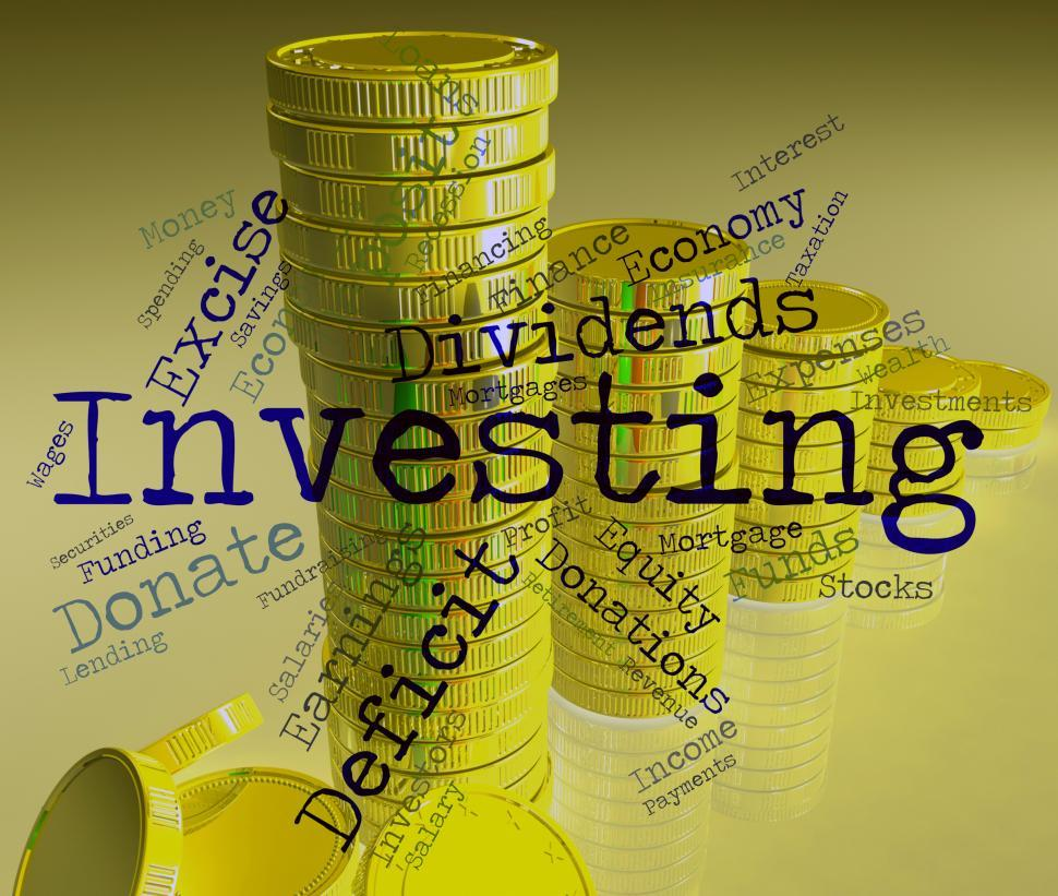 Download Free Stock HD Photo of Investing Word Represents Return On Investment And Growth Online
