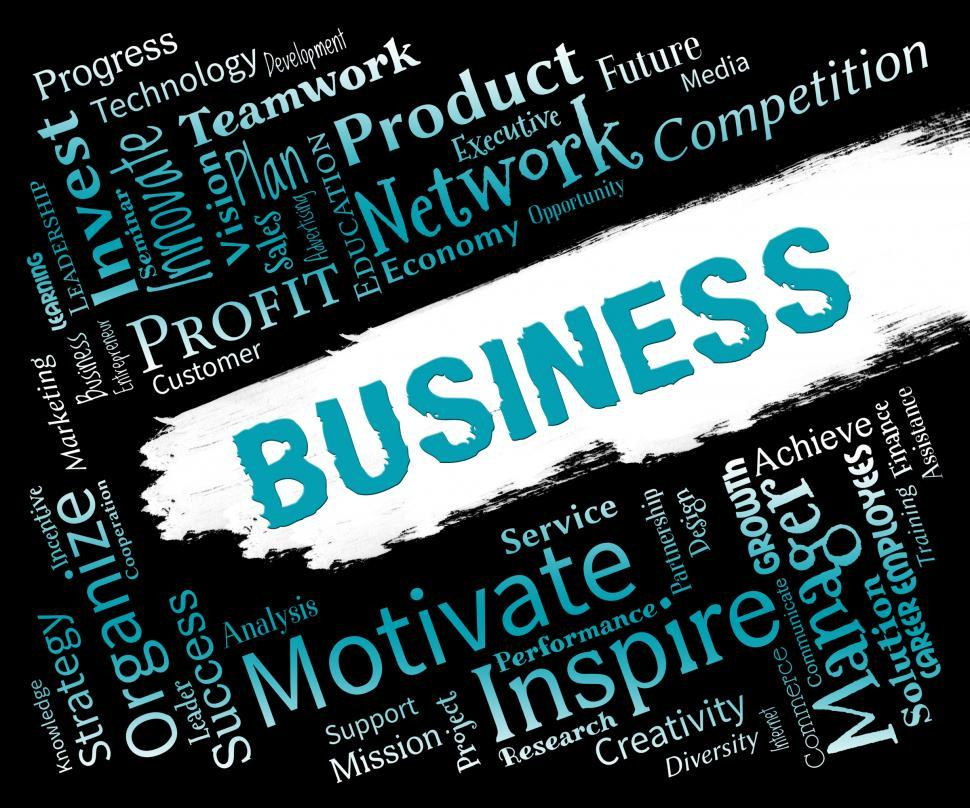Download Free Stock HD Photo of Business Words Shows Biz Businesses And Corporate Online