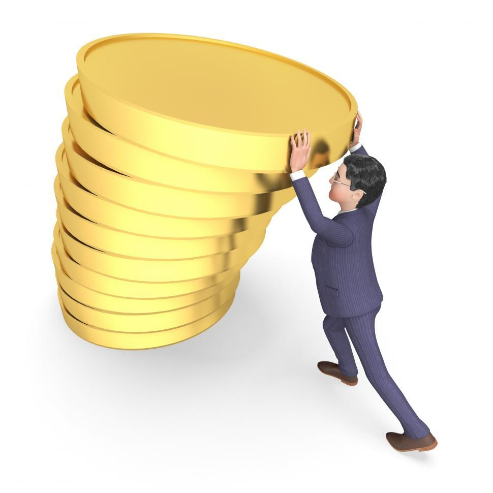 Download Free Stock HD Photo of Savings Character Indicates Business Person And Richness 3d Rend Online