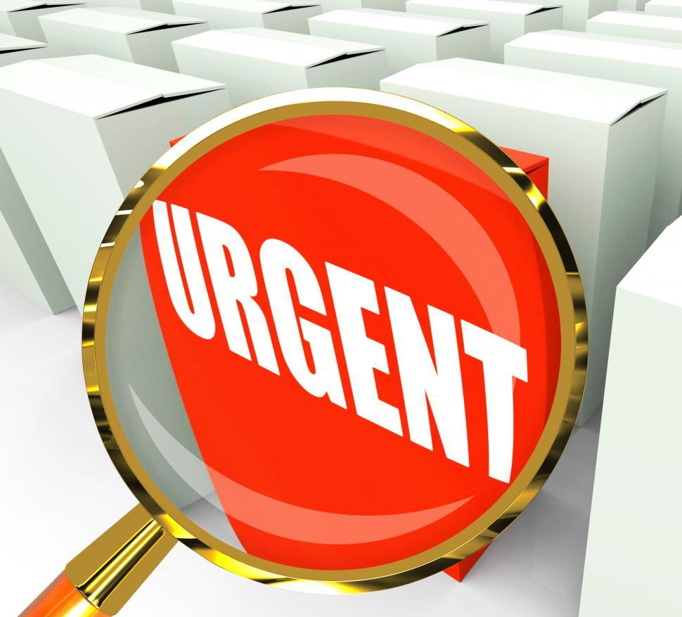 Download Free Stock HD Photo of Urgent Packet Refers to Urgency Priority and Critical Online