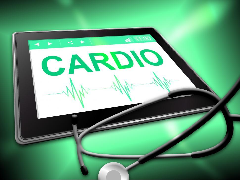 Download Free Stock HD Photo of Cardio Tablet Means Online Www And Wellness Online