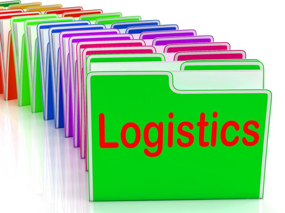 Download Free Stock HD Photo of Logistics Folders Mean Planning Organization And Coordination Online