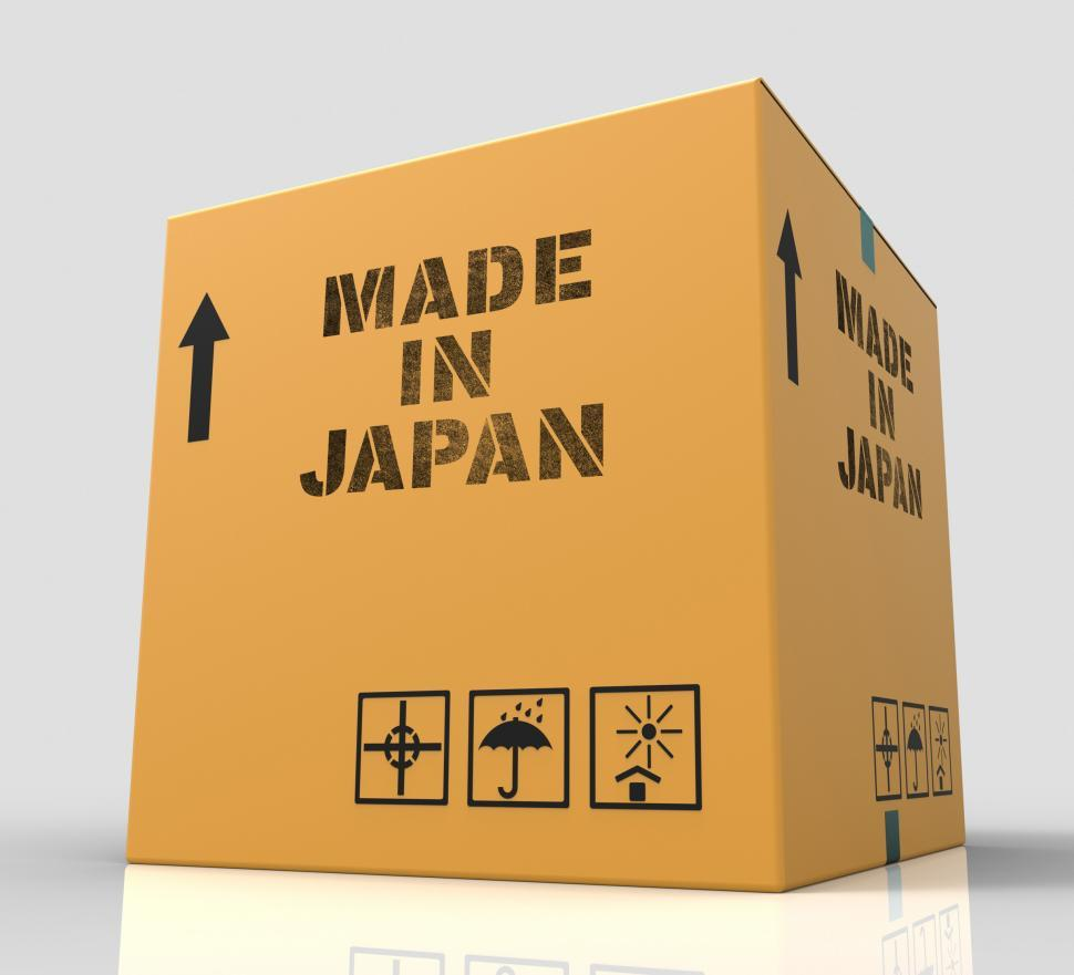Download Free Stock HD Photo of Made In Japan Indicates Japanese Import Trade 3d Rendering Online