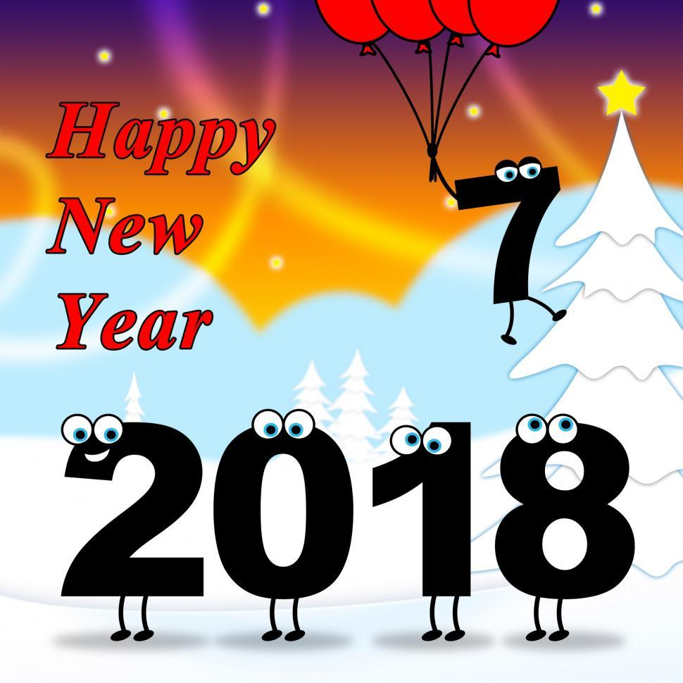 Download Free Stock HD Photo of Twenty Eighteen Indicates 2018 New Year 3d Illustration Online