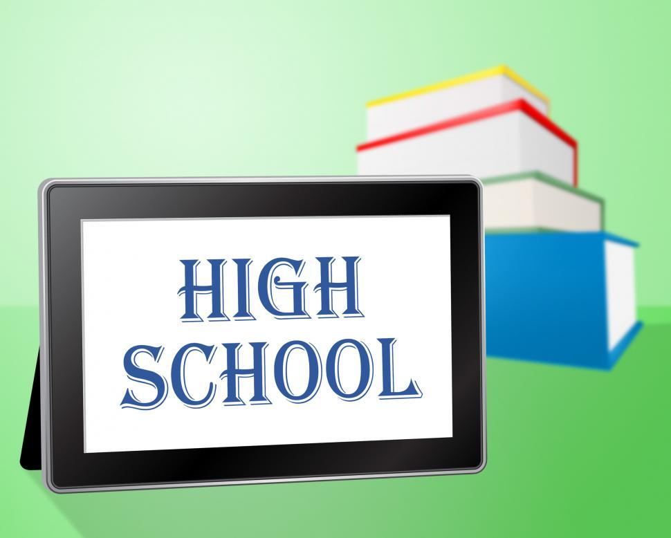 Download Free Stock HD Photo of High School Means Ninth Grade And Books Online