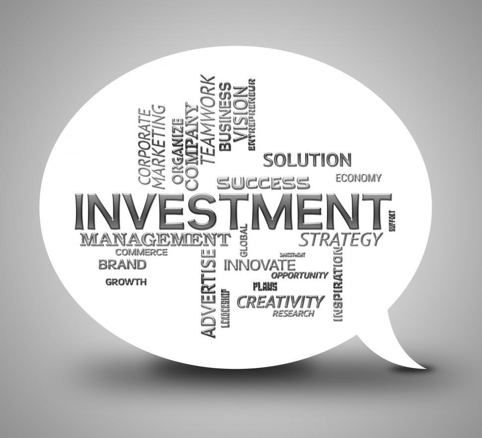 Download Free Stock HD Photo of Investment Bubble Means Communication Investing And Savings Online