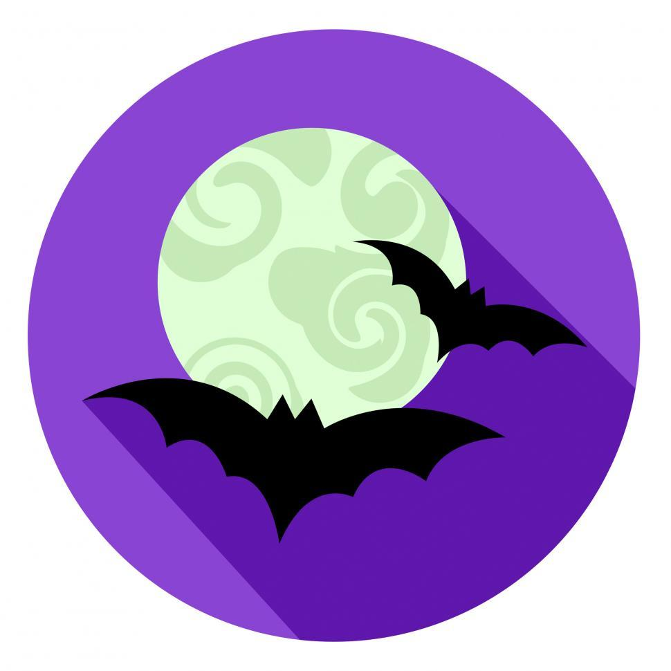 Download Free Stock HD Photo of Halloween Bats Icon Indicates Sign Scary And Horror Online