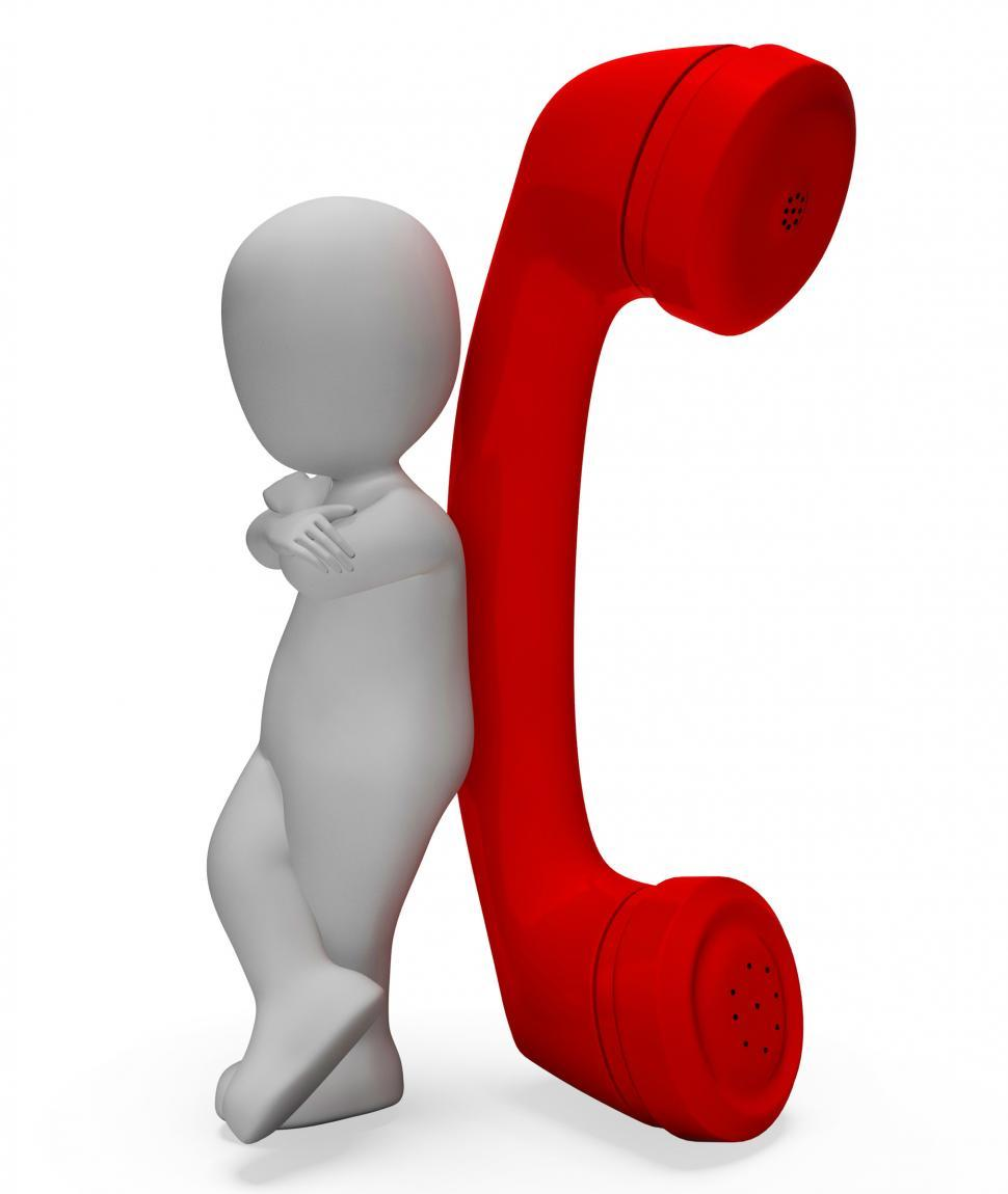 Download Free Stock HD Photo of Character Phone Means Call Now And Calls 3d Rendering Online