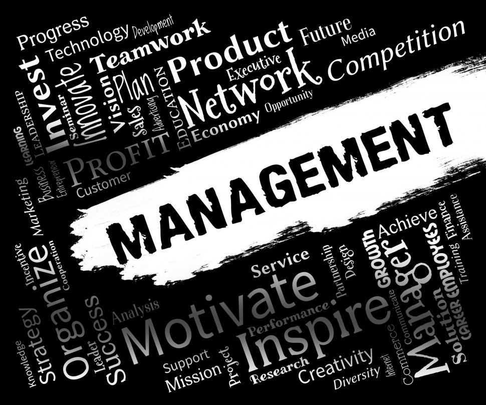 Download Free Stock HD Photo of Management Words Represents Organization Directors And Administr Online