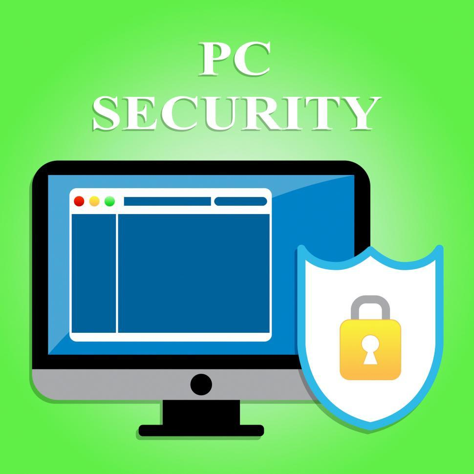 Download Free Stock HD Photo of Pc Security Represents Web Site And Communication Online