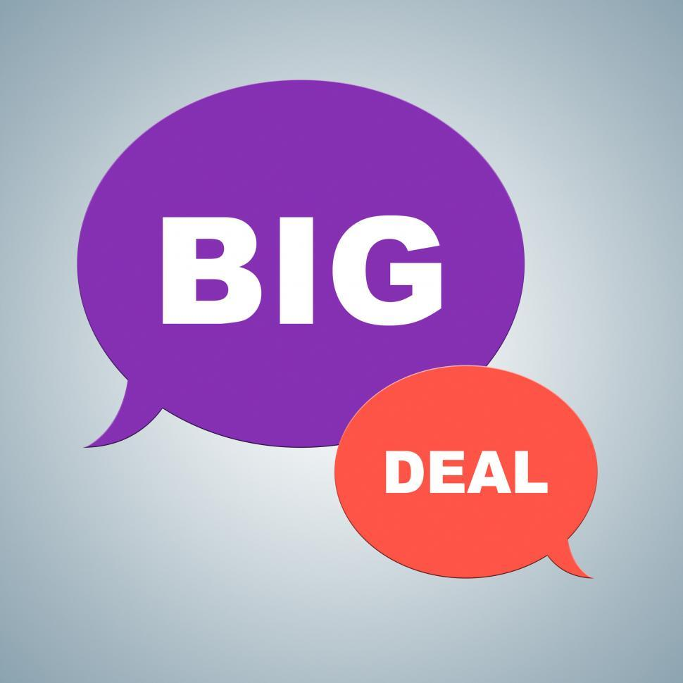 Download Free Stock HD Photo of Big Deal Shows Best Deals And Bargains Online