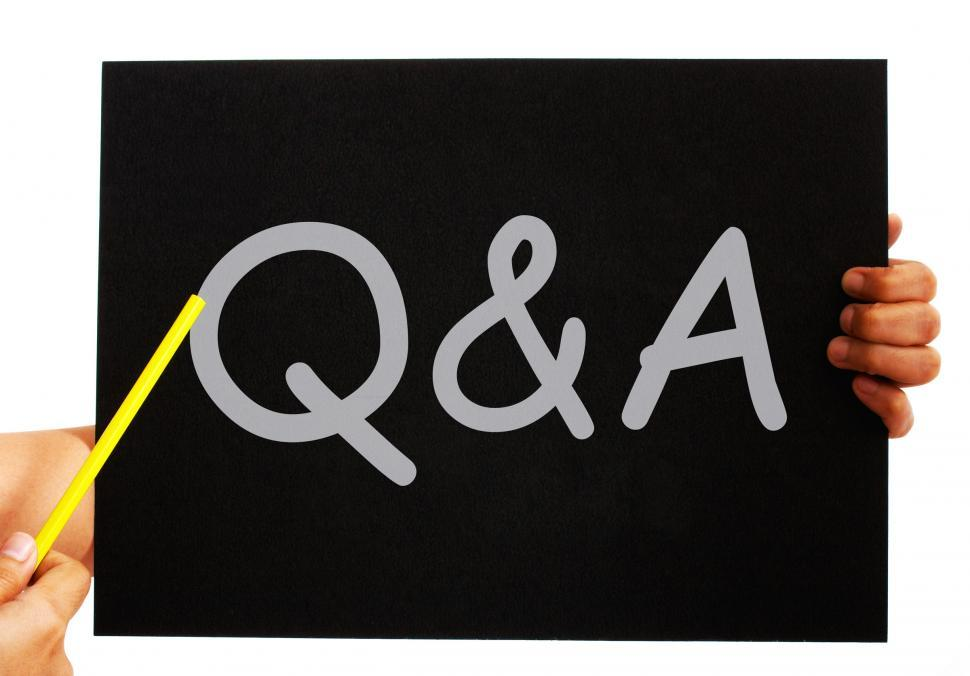 Download Free Stock HD Photo of Q&A Blackboard Means Questions Answers And Assistance Online