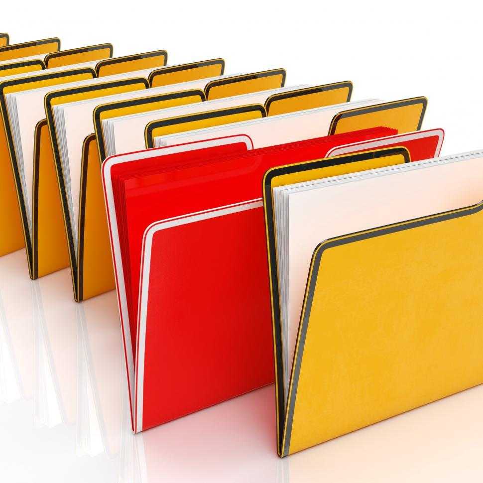Download Free Stock HD Photo of Folders Showing Organising Documents Filing And Reports Online