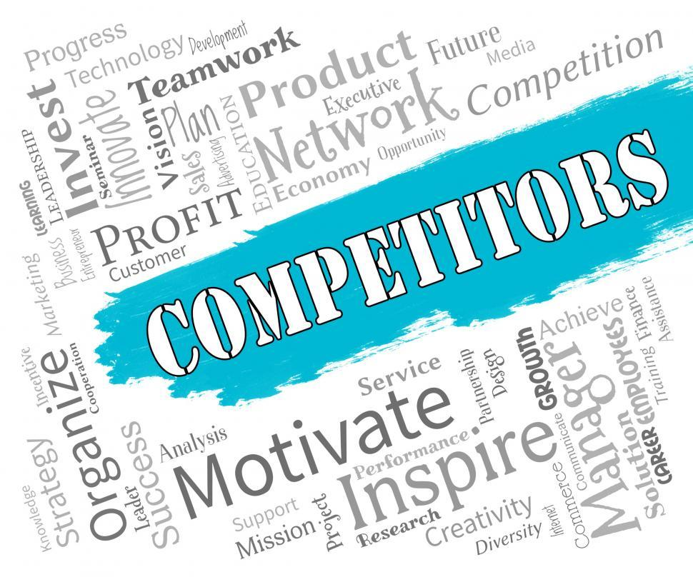 Download Free Stock HD Photo of Competitors Words Represents Adversary Adversaries And Opponent Online