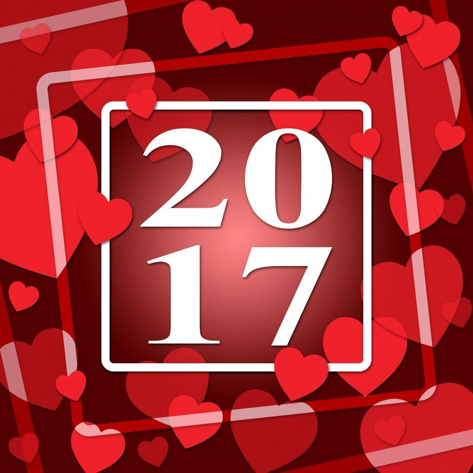 Download Free Stock HD Photo of Two Thousand Seventeen Indicates New Year And Celebrating Online