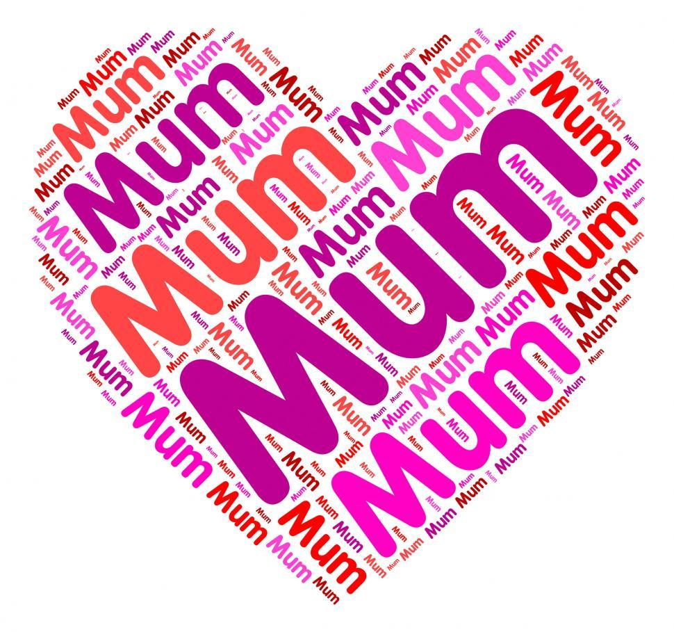 Download Free Stock HD Photo of Mum Heart Shows In Love And Mom Online