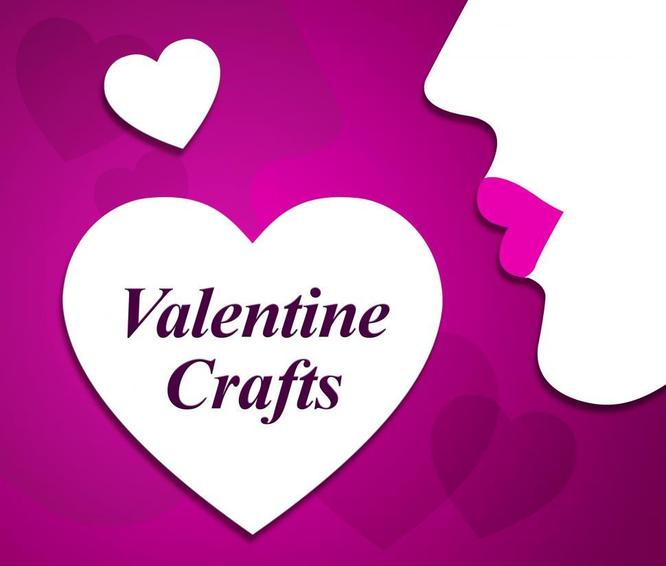Download Free Stock HD Photo of Valentine Crafts Indicates Valentines Day And Art Online