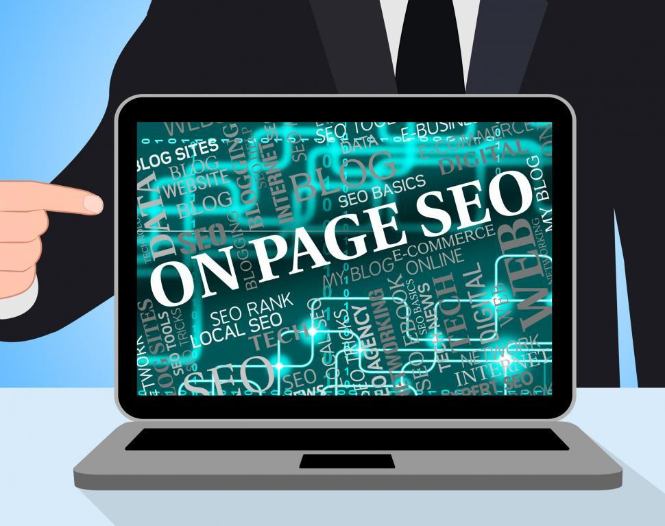 Download Free Stock HD Photo of On Page Seo Indicates Search Engines And Computing Online