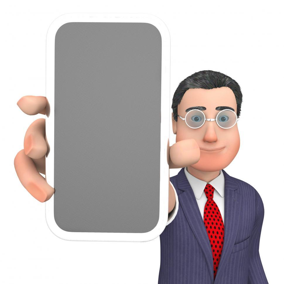 Download Free Stock HD Photo of Smartphone Character Shows World Wide Web And Business 3d Render Online
