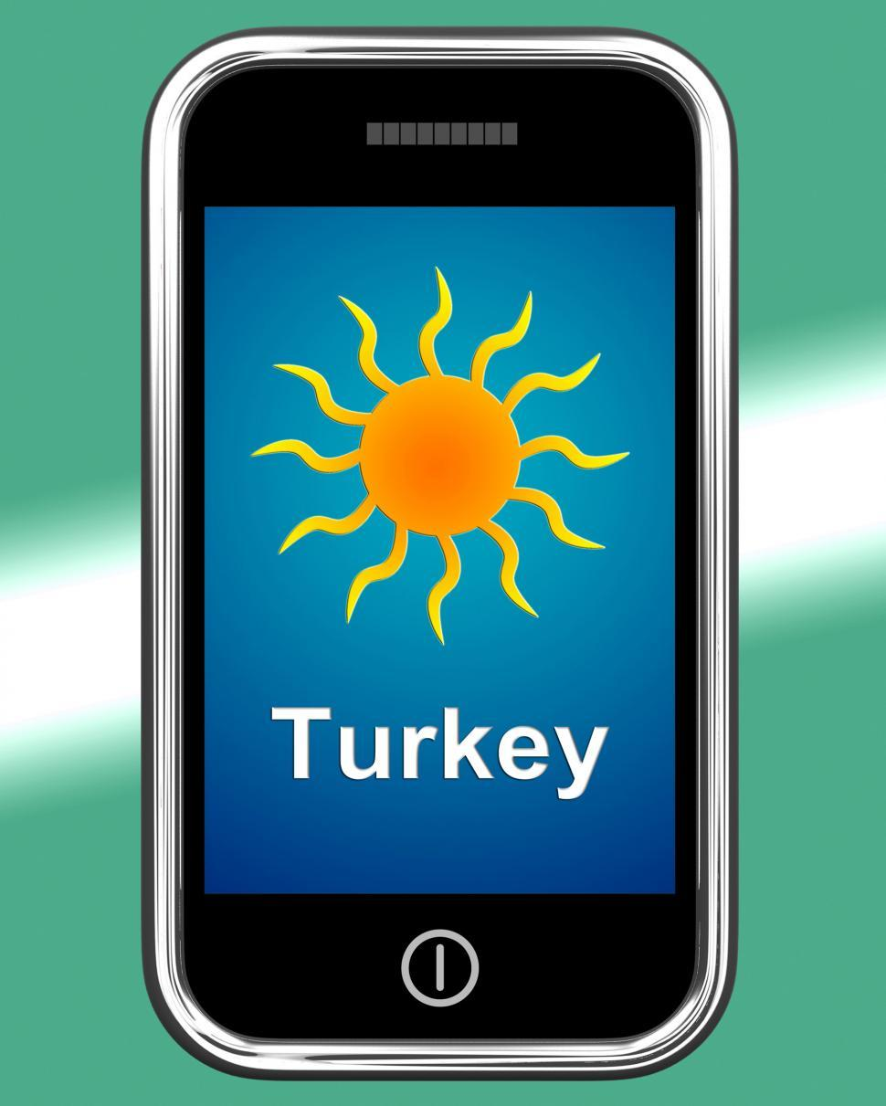 Download Free Stock HD Photo of Turkey On Phone Means Holidays And Sunny Weather Online