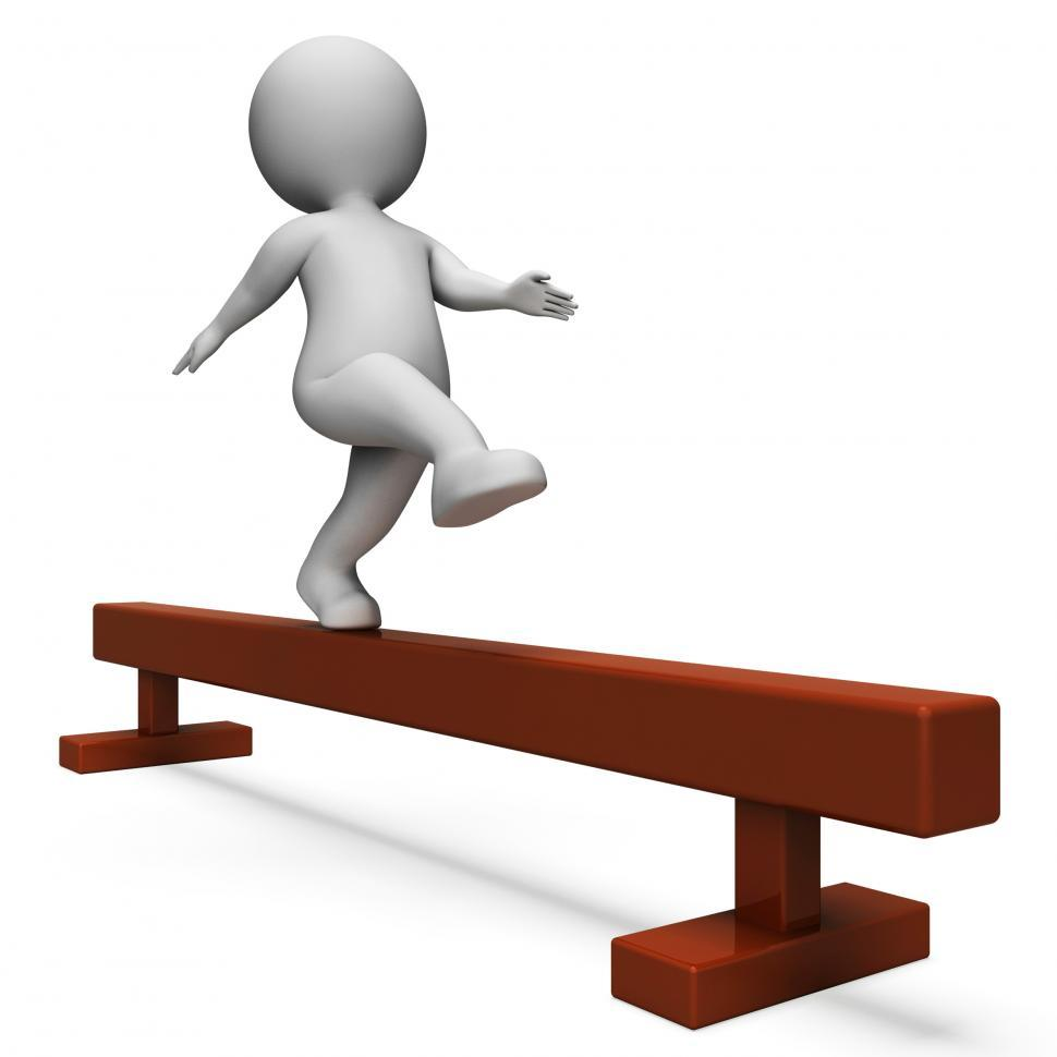 Download Free Stock HD Photo of Balance Beam Means Getting Fit And Agility 3d Rendering Online