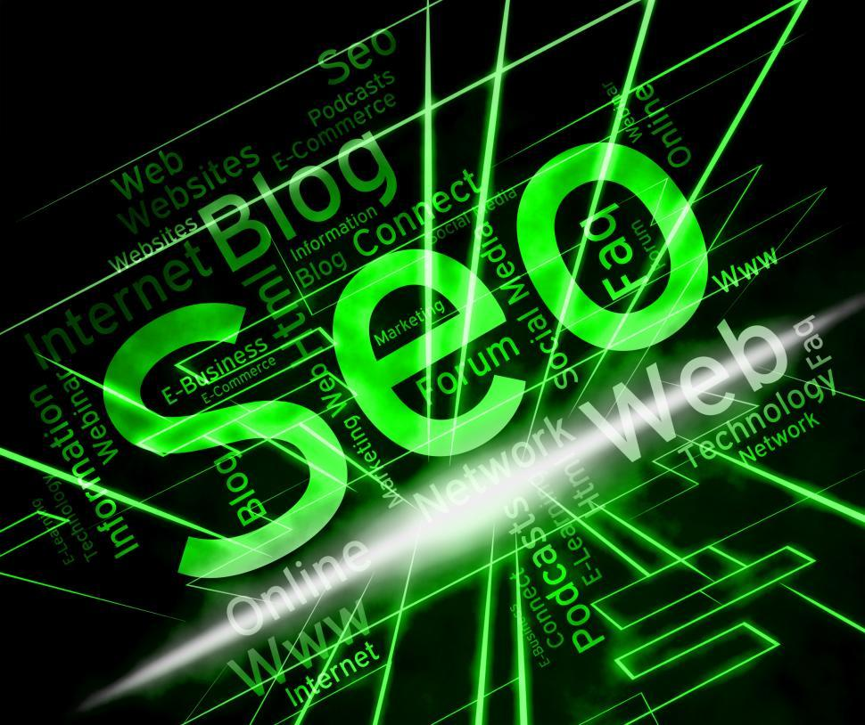 Download Free Stock HD Photo of Seo Word Means Website Indexing And Search Online