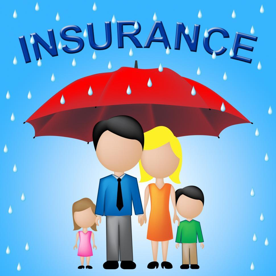 Download Free Stock HD Photo of Family Insurance Shows Household Policy And Cover Online