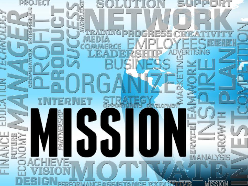 Download Free Stock HD Photo of Mission Words Means Goals Strategy And Objectives Online
