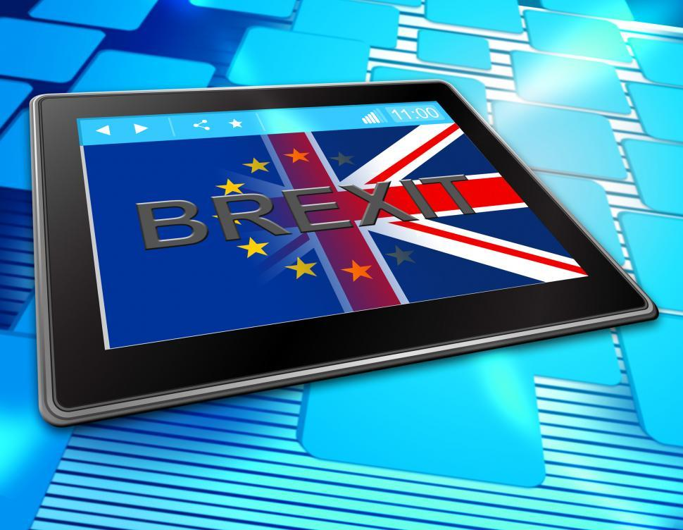 Download Free Stock HD Photo of Brexit Tablet Shows Britain Web Www And Eu Online