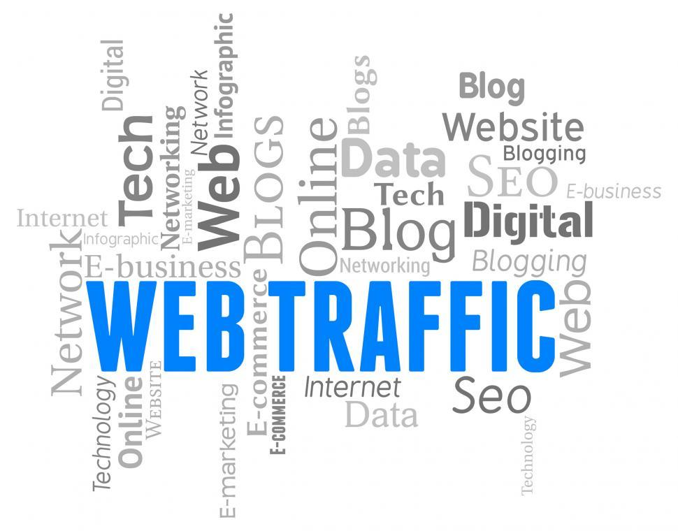 Download Free Stock HD Photo of Web Traffic Represents Wordclouds Customers And Websites Online