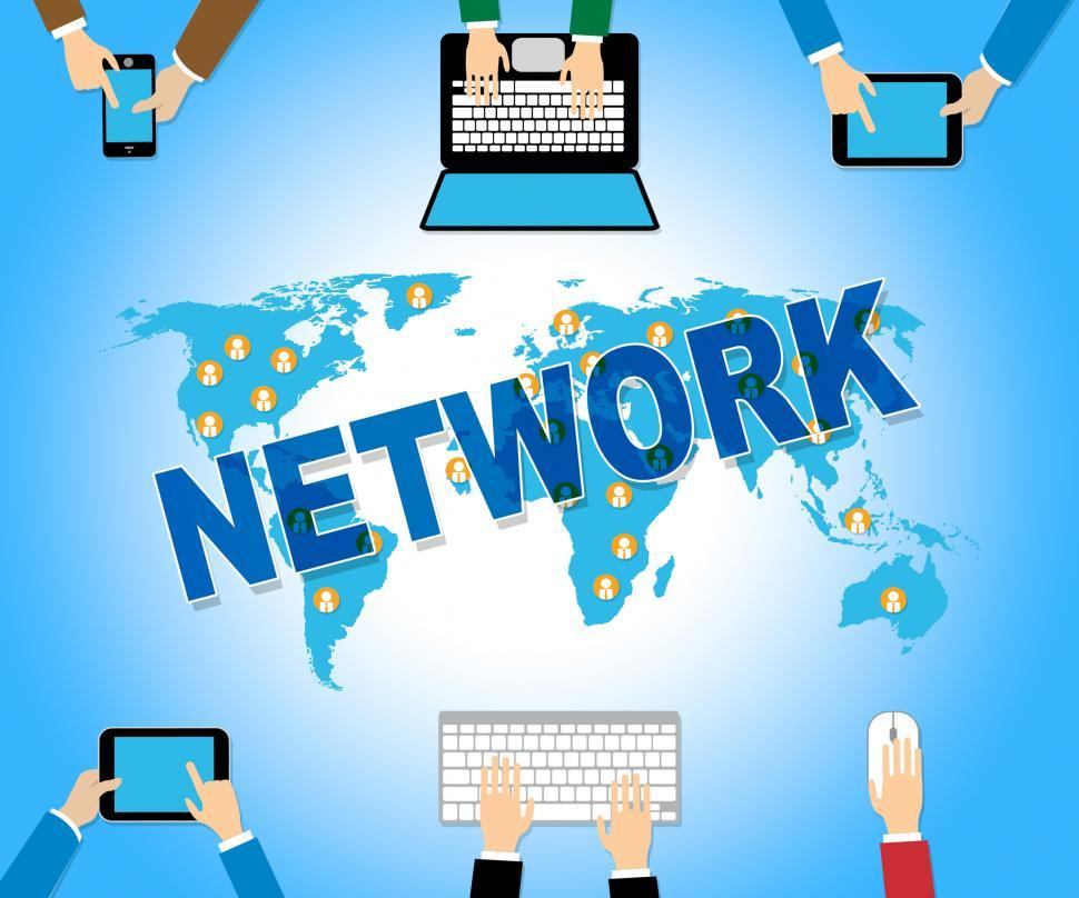Download Free Stock HD Photo of Online Network Represents Web Site And Computing Online