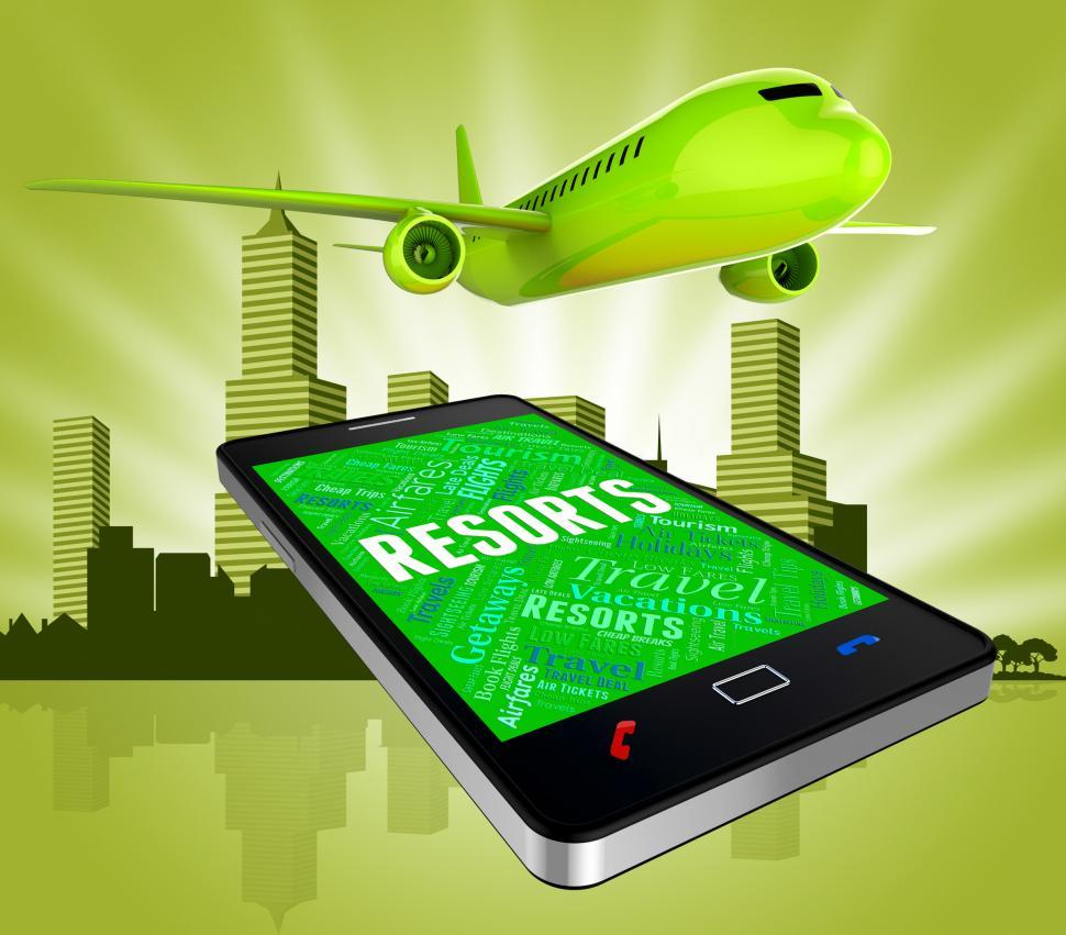 Download Free Stock HD Photo of Resorts Online Shows Web Site And Aircraft Online