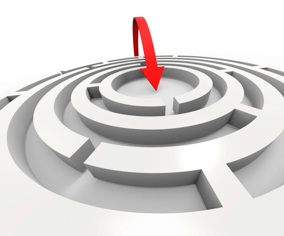 Download Free Stock HD Photo of Overcome Maze Shows Solving Puzzle Success Online