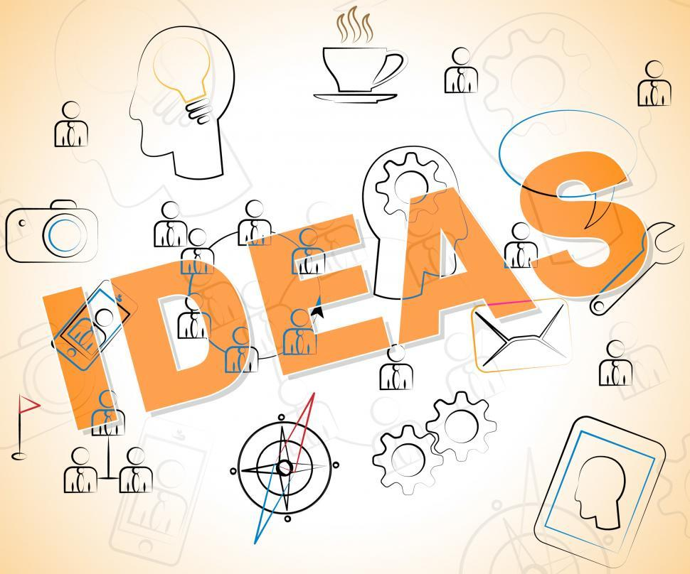 Download Free Stock HD Photo of Ideas Word Shows Thinking Creativity And Deciding Online