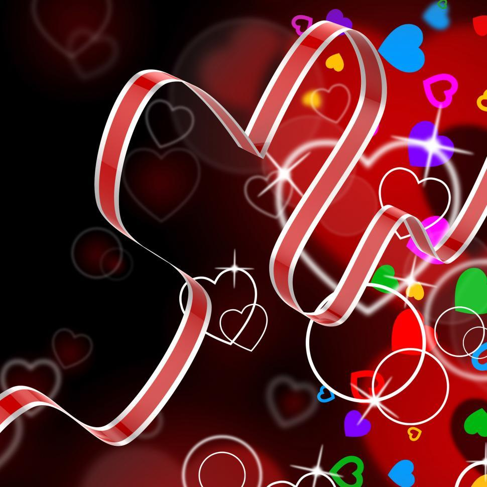 Download Free Stock HD Photo of Ribbon Heart Shows Celebration Decorative Or Festive Decorations Online