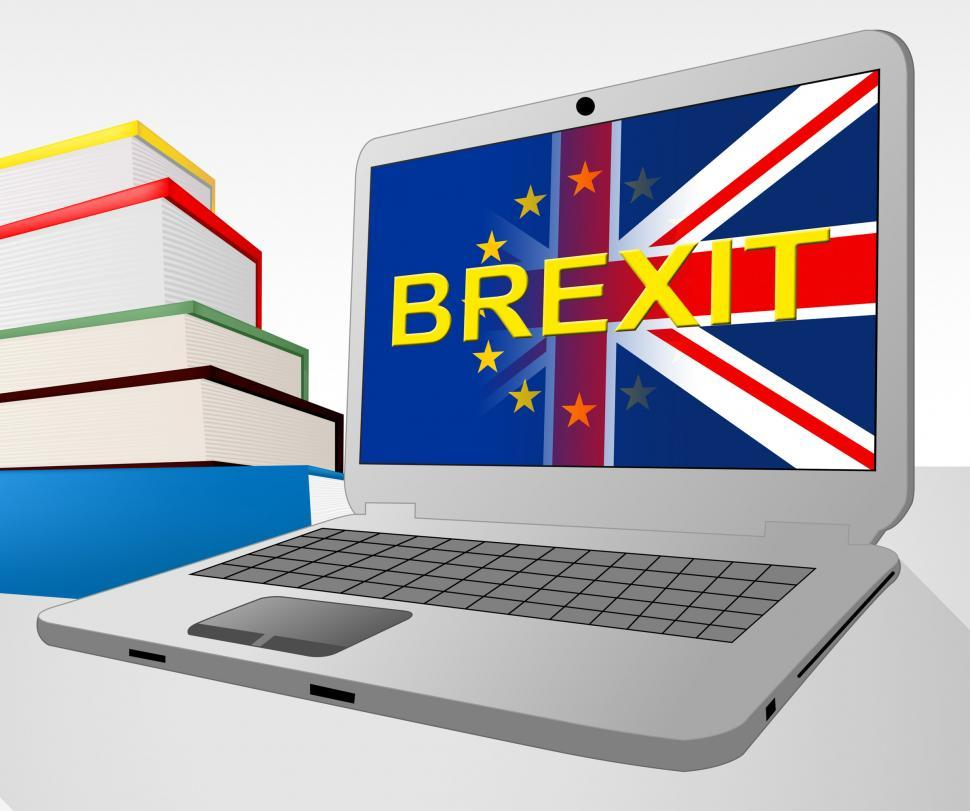 Download Free Stock HD Photo of Brexit Laptop Shows Britain Remain Europe And Decision Online