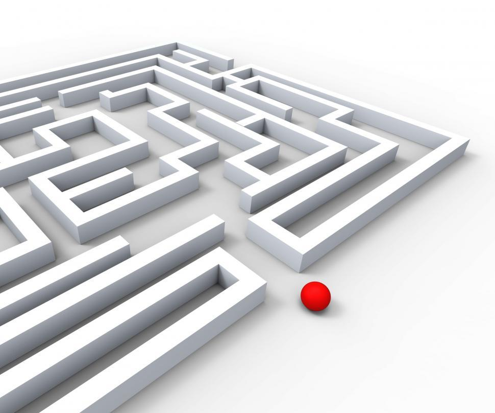 Download Free Stock HD Photo of Complicated Maze Shows Complexity And Challenges Online