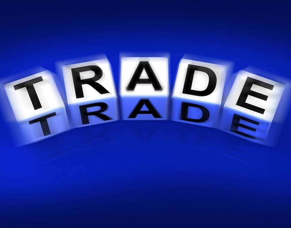 Download Free Stock HD Photo of Trade Blocks Displays Trading Forex Commerce and Industry Online
