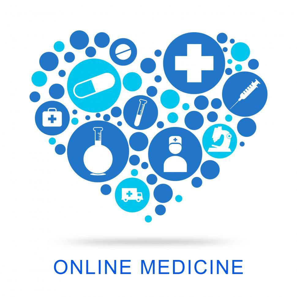 Download Free Stock HD Photo of Online Medicine Indicates Web Site And Antibiotic Online