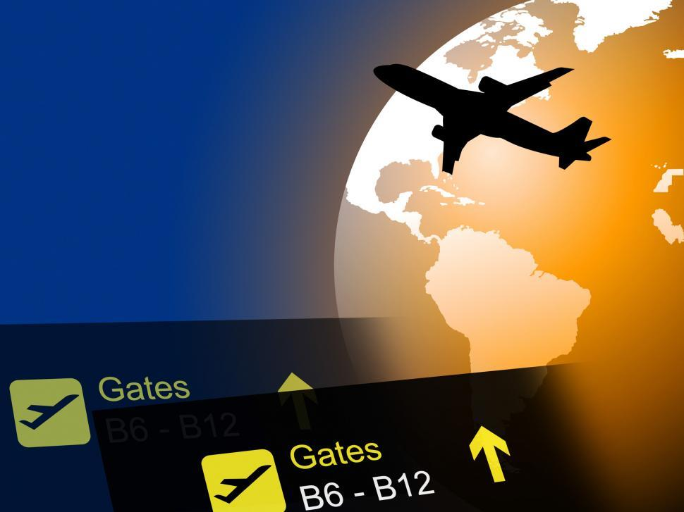 Download Free Stock HD Photo of World Flight Means Worldly Globalization And Flights Online