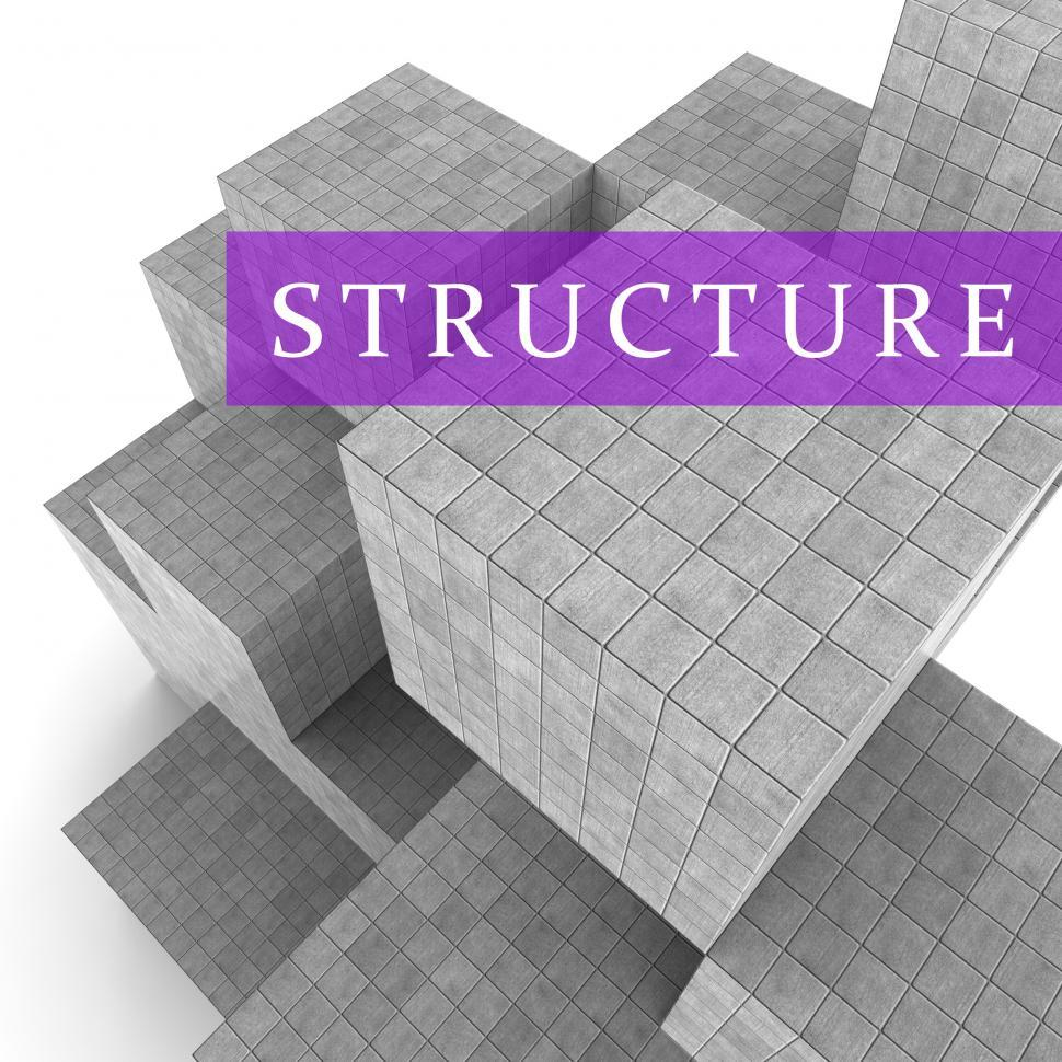 Download Free Stock HD Photo of Structure Blocks Means Organized Framework 3d Rendering Online