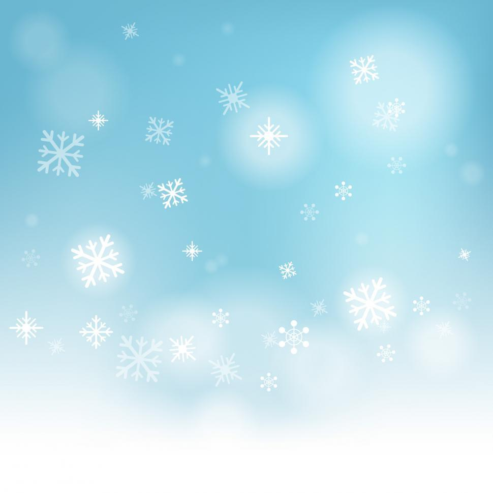 Download Free Stock HD Photo of Snow Flakes Background Shows Winter Season Or Frozen Water Online