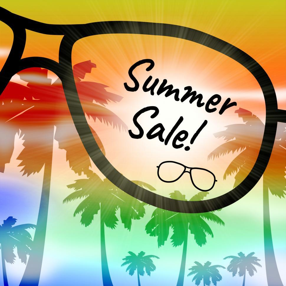 Download Free Stock HD Photo of Summer Sale Represents Vacation Discount And Promotions Online