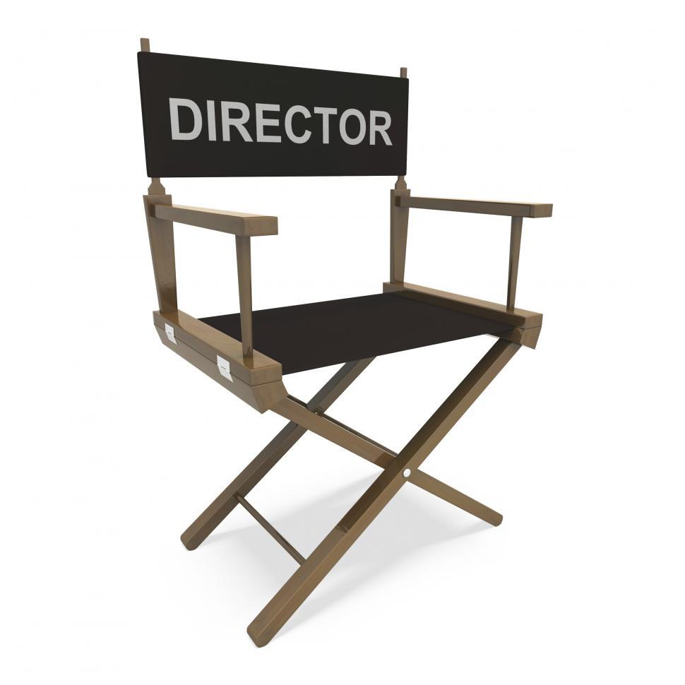 Free Stock Hd Photo Of Director Chair Shows Producer Or Maker